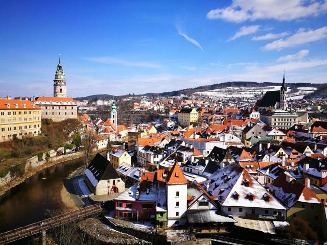 Fairytale Cesky Krumlov is a couple of hours away from Prague