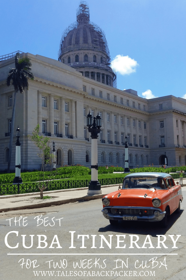 After spending a month travelling around Cuba I have created the perfect Cuba Itinerary. I based the itinerary on 2 weeks in Cuba but if you have more or less time here I've also included ideas for an itinerary for 7 days, 10 days and 3 weeks in Cuba, so click to see the best places to visit in Cuba! #Cuba #travel #CubaItinerary #2WeeksinCuba #traveltips #wheretogoinCuba #whattodoinCuba