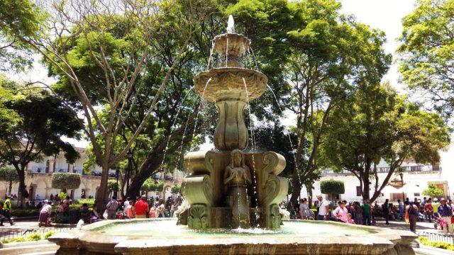 What to do in Antigua Guatemala - The Fountain in Antigua's Main Square