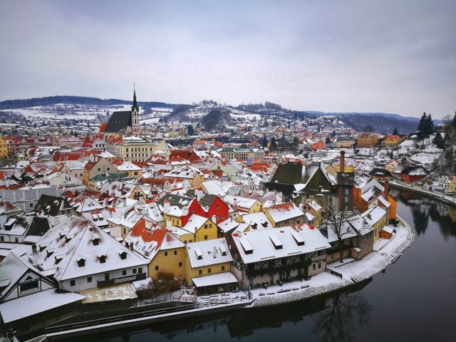 Cesky Krumlov in winter is beautiful, but a lot of attractions are closed, and the weather doesn't always cooperate! The best time to go to Europe