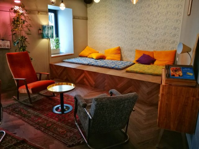 Chill Out Area at the Wombat's Vienna Naschmarkt - Staying in a Hostel for the First Time