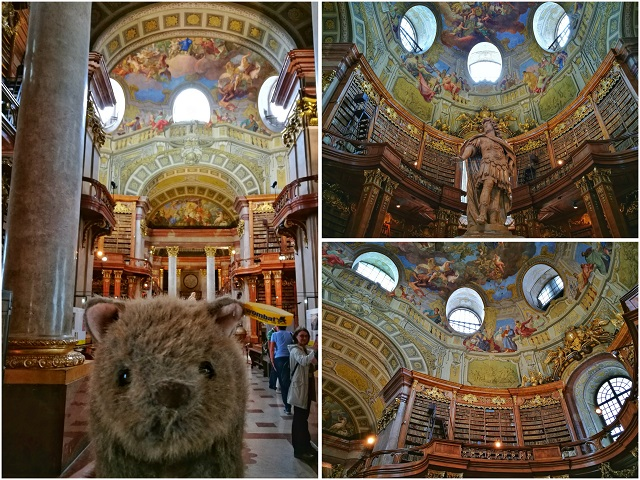Where's Wagner Wombat - National Library. Places to visit in Vienna in 2 Days