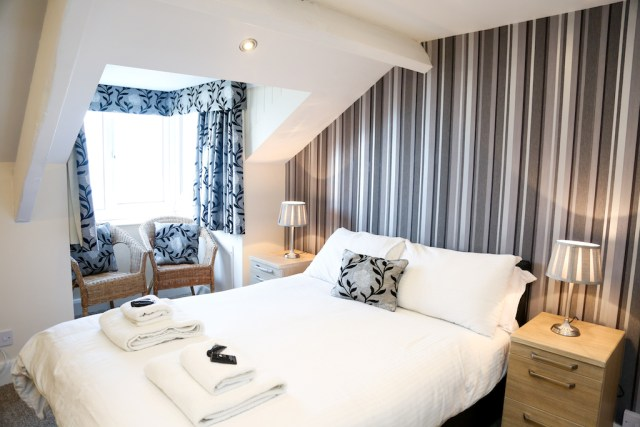 A double room at the Riviera Guest House in Whitby