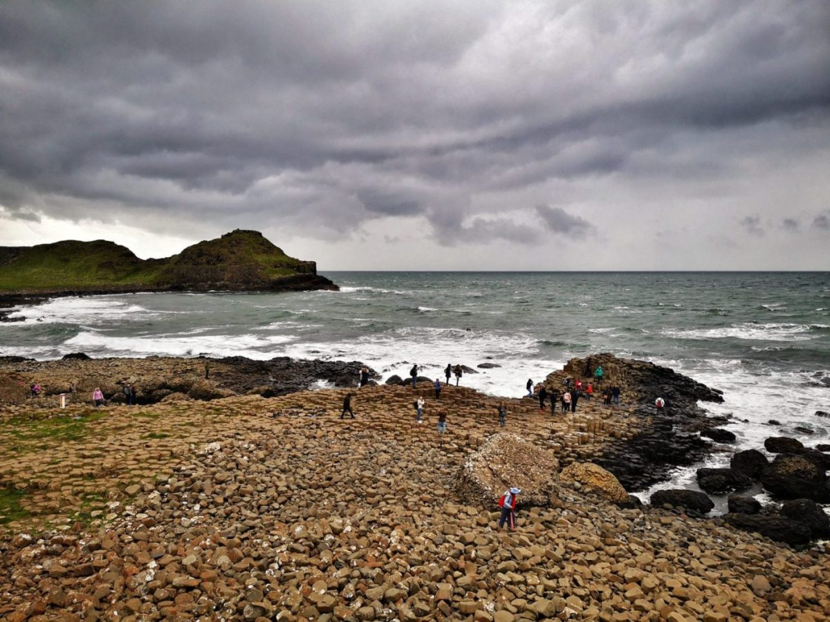 Just As the Rain Came Down on the Giant's Causeway