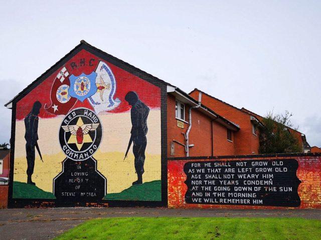 Traditional Belfast Street Art - One of the Political Murals in Belfast