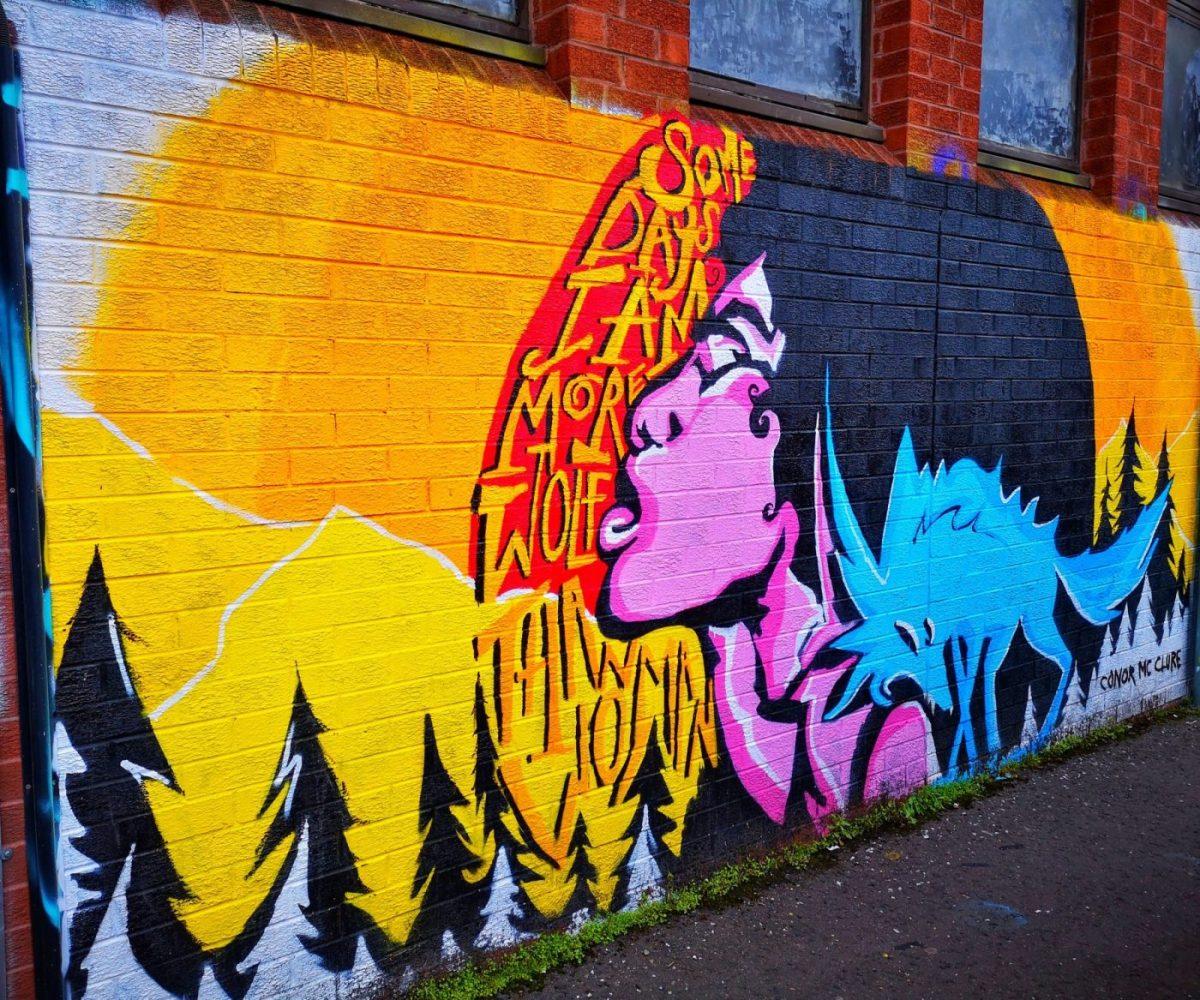 Belfast Street Art - feeling Wolfy?