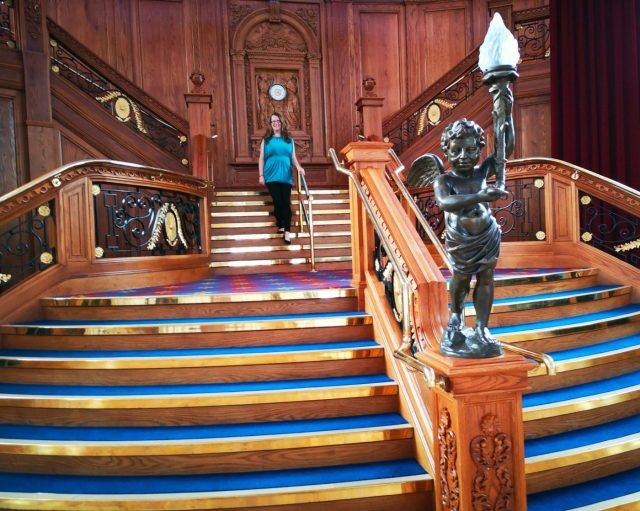 The Obligatory Staircase Photo at the Titanic Museum for Afternoon Tea Titanic