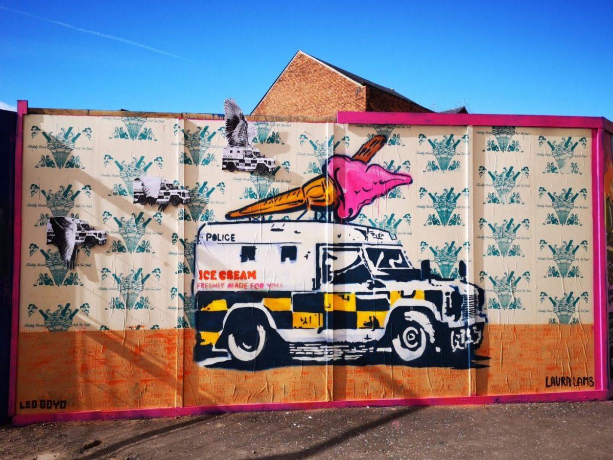Belfast Street Art - A fun combination of stencils and spray paint