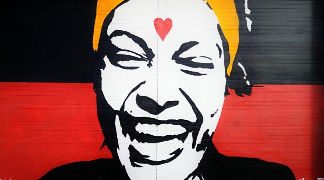 Belfast Street Art - a bright & colourful face
