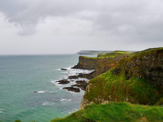 Looking towards Dunluce Castle from the cliffs at White Rocks Coastal Park - Things to do near Portrush