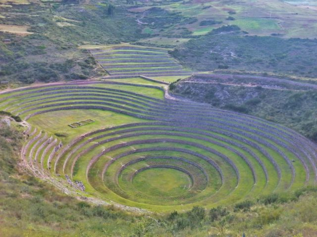 The Circular Terraces at Moray Peru - going from Cusco to Ollantaytambo