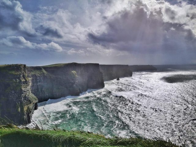 The Cliffs of Moher from the north viewing platform on the right-hand path