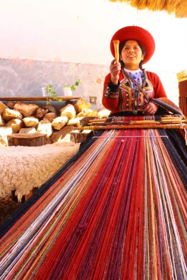 Weaving at Chinchero near Cusco