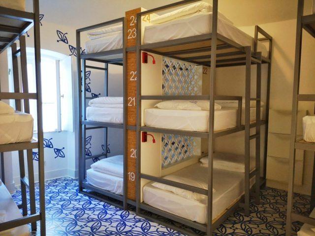 One of the shared dorms at the Heaven Inn Hostel Evora