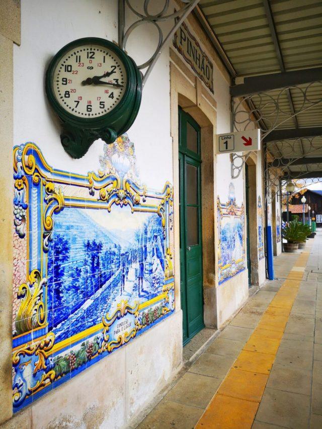 Beautiful Azulejo Tiles at Pinhao Train Station