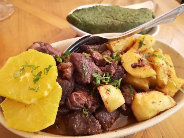 My Meal at the Taberna Tipica Quarta-Feirarestaurant in Evora