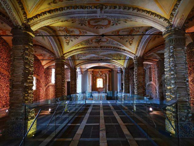 The Chapel of Bones in Evora in Portugal