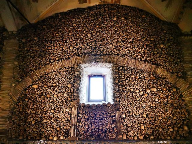 There is Some Natural Light in the Chapel of Bones