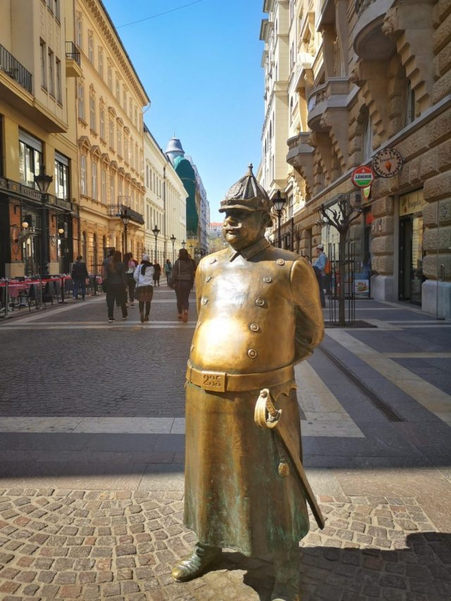 The fat policeman statue known as Charlie