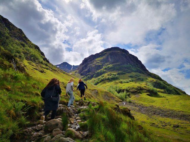 Haggis Adventurers Hiking in Glencoe