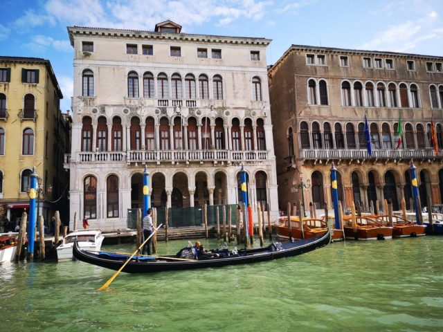 Gondola on the Grand Canal - Venice Transportation