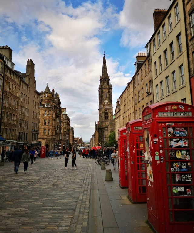Red Phone Boxes in Edinburgh City Centre