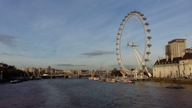 A View of The London Eye and the Thames River