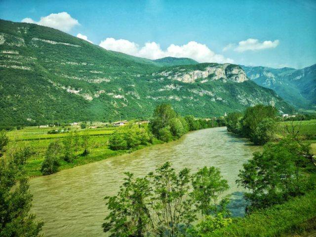 Scenery on the way to Trento