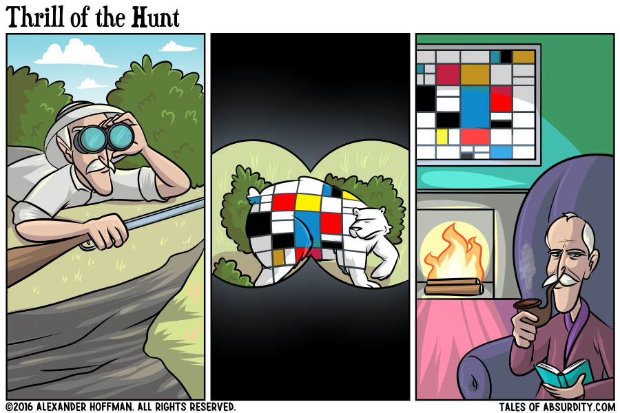It's so rare to see a Piet Mondrian in the wild in all its majesty.