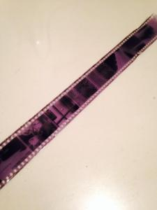 wet film unwound from reel