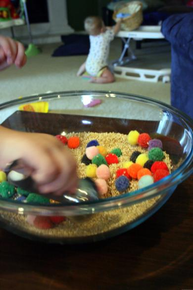 Oatmeal toddler activity