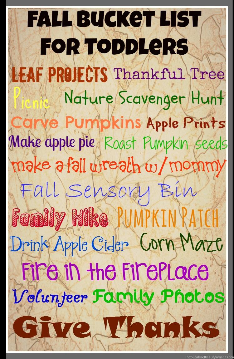 Fall Bucket List For Toddlers Tales Of Beauty For Ashes