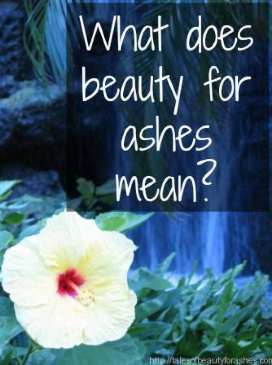 What Does Beauty For Ashes Mean Tales Of Beauty For Ashes