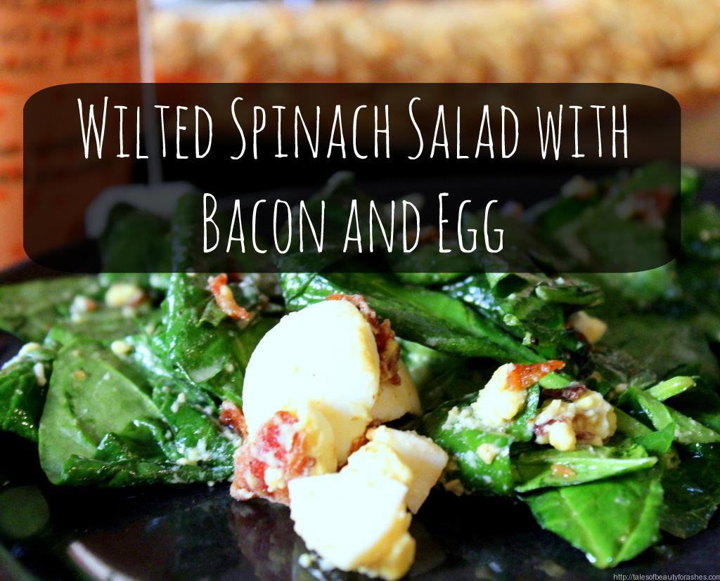 have lately been crushing on spinach salads, I have my mom to thank ...