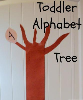 Toddler alphabet tree