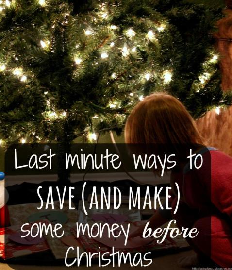 Last minute ways to save (and make) some money before Christmas. Some of these are so simple and easy! Just today, I can save $3.50 from the grocery and make a $10 gift card!