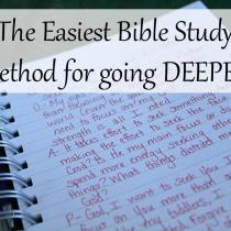 This is one of the easiest Bible Study Methods, and it sticks in your mind! It's my favorite way to study Scripture!