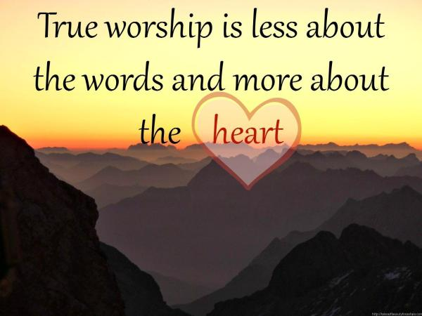 What is true worship all about?