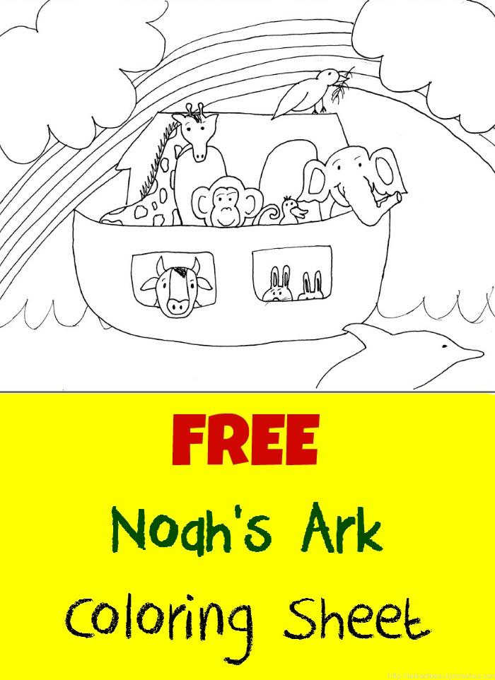 free coloring page for noahs ark - Noah Ark Coloring Pages