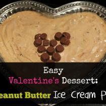 Such a simple dessert: Peanut Butter Ice Cream Pie. This comes together in about fifteen minutes!