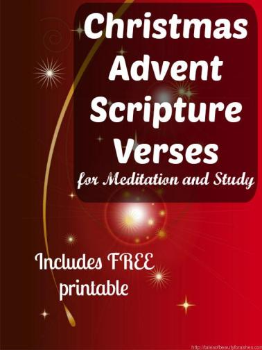 Christmas Advent Scripture verses. This is a great way to stay focused on the real reason for the season this year!
