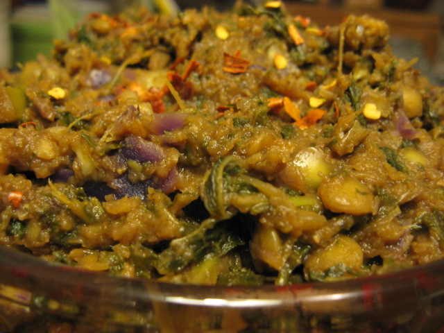kale + date curry