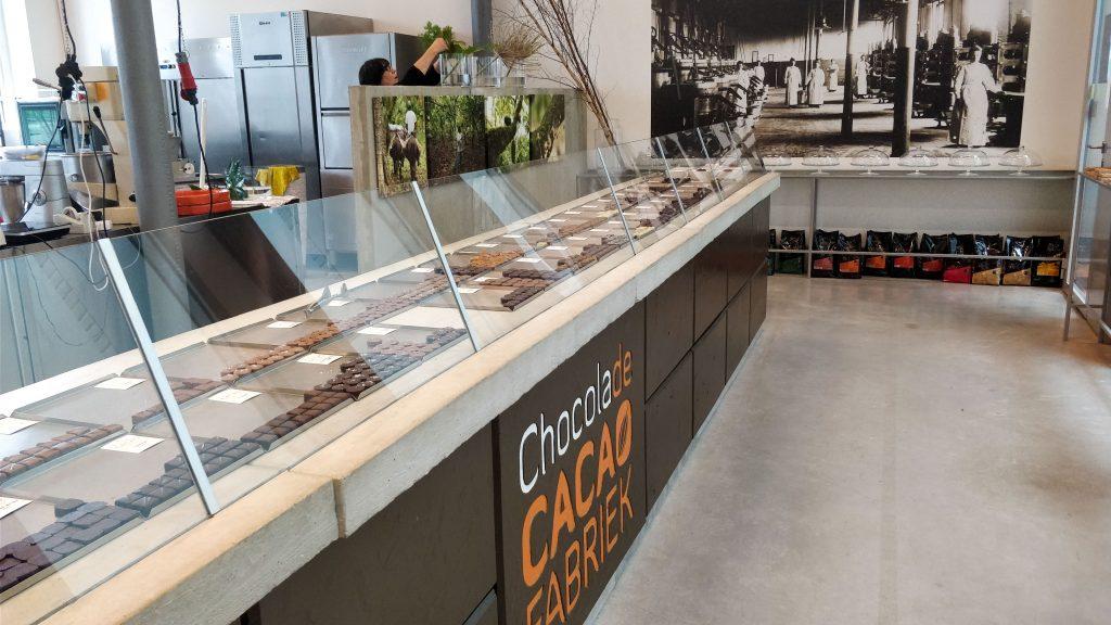 ChocolaDeCacaofabriek etalage