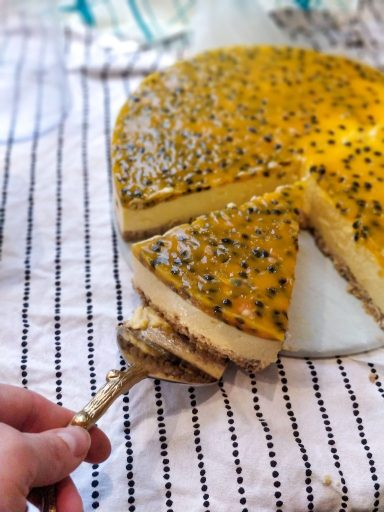 No-bake Mango, Passion fruit Cheesecake Recipe