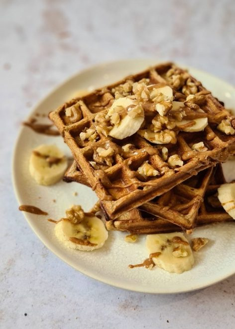 healthy Gluten-free Banana breakfast waffles recipe
