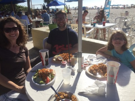 Lunch at the beach on Anna Marie Island.