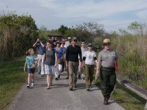 Following Ranger Lori along the Anhinga Trail