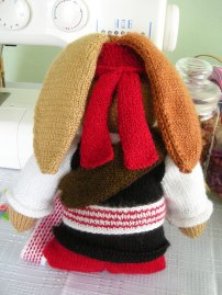 Hand-knitted-Pirate-Bunny-Bandana-Tie