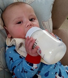 Little Man and his bottle
