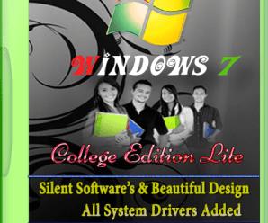 Windows 7 College Edition 2017 Lite x64 Bit [TalhaSofts]